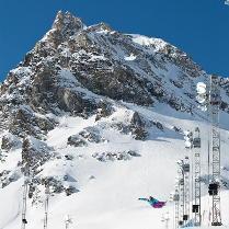 Snowboarder a Tignes