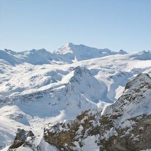Vue du glacier de Tignes
