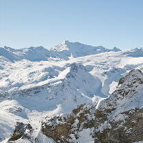 Sight from Tignes Glacier