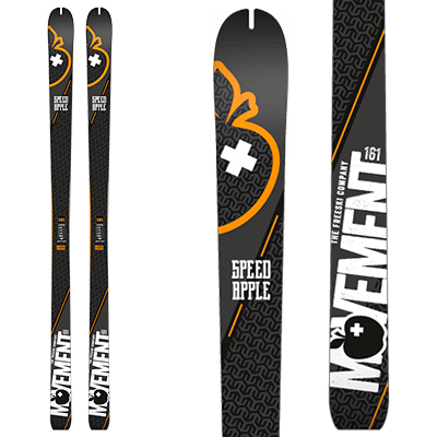 Movement Speed Apple : Rando, paire skis noirs et orange.