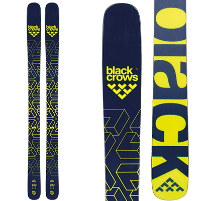 Black-Crows Atris : skis free ride noirs et jaunes