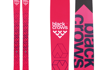 Black-Crows Camox Birdie: skis free ride and backcountry pink with black pattern