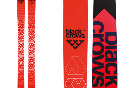 Black-Crows Camox: skis free ride red with white patterns
