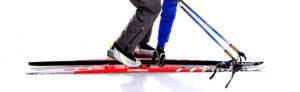 ski telemark de profil