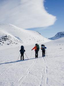 3 skieurs de dos
