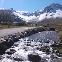 Vue du glacier de la Grande Motte
