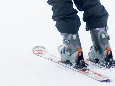 chaussures de ski vues de près