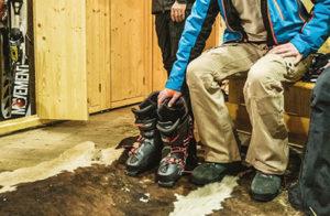 intérieur des consignes de ski