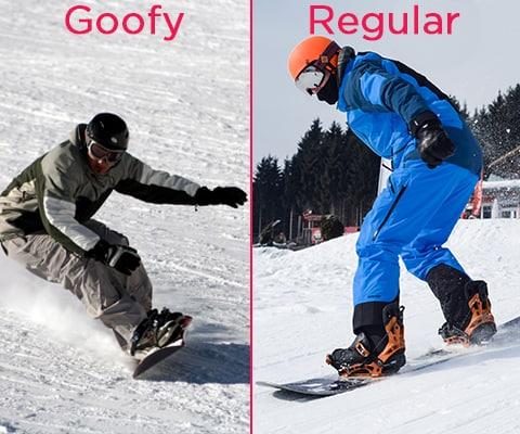 reconnaitre un goofy ou un regular en snowboard