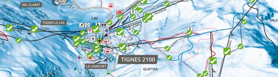 Plan des pistes à Tignes