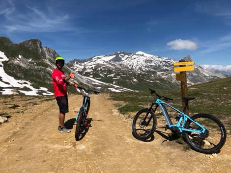 Début des pistes de Bike Park à Tignes